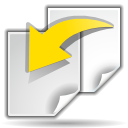 revert, paper, document, file icon