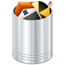 trash, bin, full, recycle bin, trash can, recycle icon