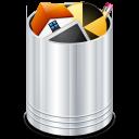 trash, bin, full, recycle bin, trash can, recycle icon