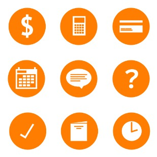 Simply Orange icon sets preview