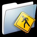 folder, smooth, graphite, public icon