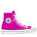 pink, converse icon