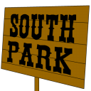 sign, south, park icon