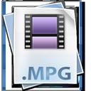 mpg, file, mpeg icon