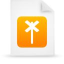 file, paper, orange, document icon