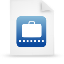 blue, paper, document, file icon