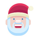 santa, emoji, smile, man, christmas, smiley, emot icon