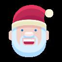 santa, emoji, smile, man, christmas, smiley, emot icon