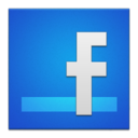 facebook,frameless icon
