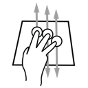 aggressive, gestureworks, three, tilt, finger icon