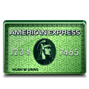 American, Express, Green icon