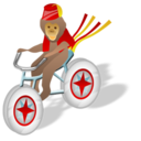 monkey,bicycle icon
