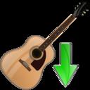 guitar,down,instrument icon