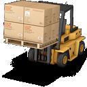forklift, warehouse icon