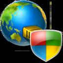 global,shield icon