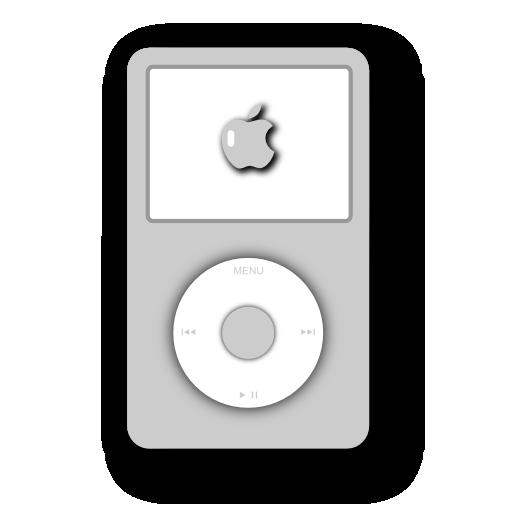 video, ipod, white icon