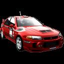 racing car, transport, vehicle, car, mitsubishi, sports car, automobile, transportation, lancer icon