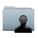 folder,graphite,user icon