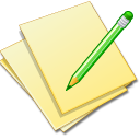 document,yellow,edit icon