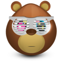 shades, bear icon