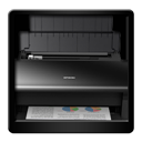 Black, Printer icon