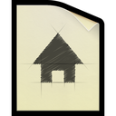 document, sketch, file, plan icon