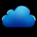 Blue, Cloud, , Plain icon