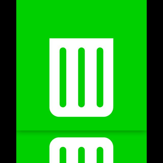 empty, mirror, recycle, bin icon