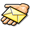 envelop, letter, share, email, message, hand, mail icon