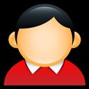 Coat, Red, User icon