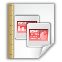 template, opendocument presentation icon