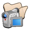 folder, videos, beige icon
