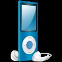 Blue, Ipod, Nano, On icon