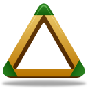 Sport triangle icon