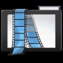 dark,folder,video icon