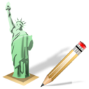 estatuadelalibertad,write,writing icon