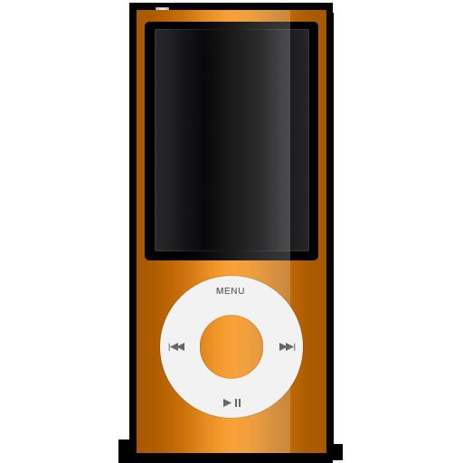 orange, ipod, nano, 5g icon