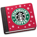 starbucks, book icon