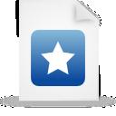 file, document, blue, paper icon