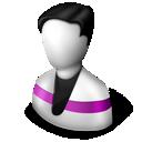 user, purple icon