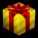 present, gold, gift, box icon
