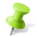 Chartreuse, Map, Marker, Pin, Push, Right icon