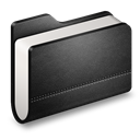 Black, Folder, Library icon