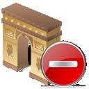 arcodeltriunfo, delete, del, remove icon