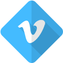 vimeo, video, network, movie, social, logo icon