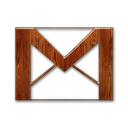 wood, logo, gmail icon