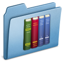 blue,library icon