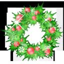 garland, holly, christmas icon