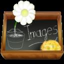 images, dossier, ardoise icon