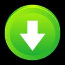 descending, down, descend, decrease, fall, download icon